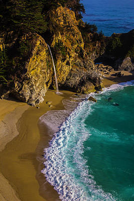 Of Big Sur Beach Photograph - Mcway Cove Beach by Garry Gay