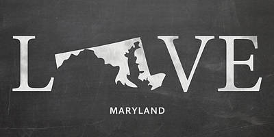 Md Love Print by Nancy Ingersoll