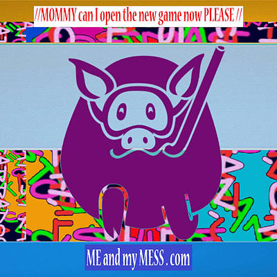Me And My Mess Dot Com  Kids Room Decorations Print by Navin Joshi
