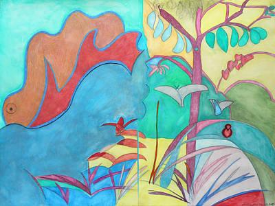 Me-bird In Paradise Original by Laura Joan Levine