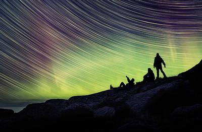Noruega Photograph - Me Myself And I In Wonder by Iwan Groot