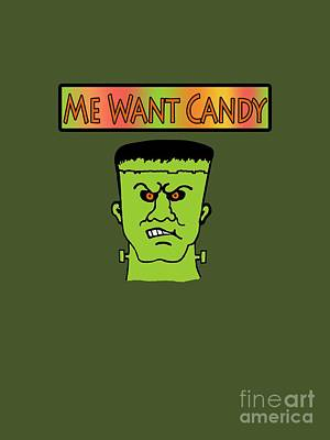 Me Want Candy Print by Methune Hively