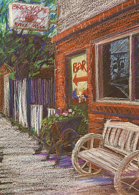 Towns Drawing - Mead Cafe by Athena  Mantle