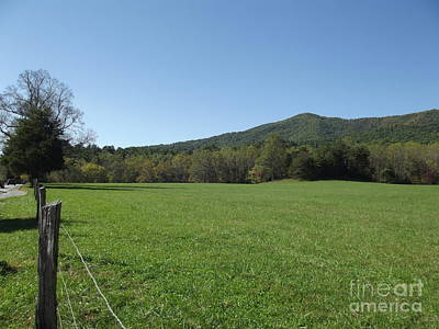 Smokey Mountain Drive Photograph - Meadow - Cades Cove by Cheryl Hardt Art