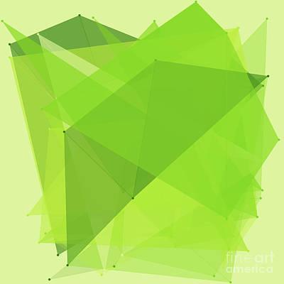 Meadow Polygon Pattern Print by Frank Ramspott
