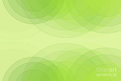 Digital Art - Meadow Semi Circle Background Horizontal by Frank Ramspott