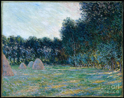 Claude Painting - Meadow With Haystacks Near Giverny by MotionAge Designs