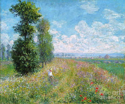 Food And Beverage Painting - Meadow With Poplars by Celestial Images