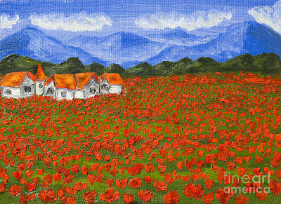 Meadow With Red Poppies Print by Irina  Afonskaya