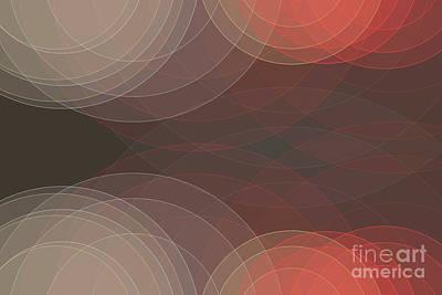 Digital Art - Mechanic Semi Circle Background Horizontal by Frank Ramspott