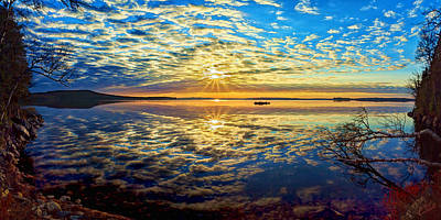 Manipulation Photograph - Meddybemps Morning Panorama by Bill Caldwell -        ABeautifulSky Photography
