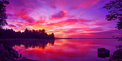 Manipulation Photograph - Meddybemps Sunrise Panorama by Bill Caldwell -        ABeautifulSky Photography