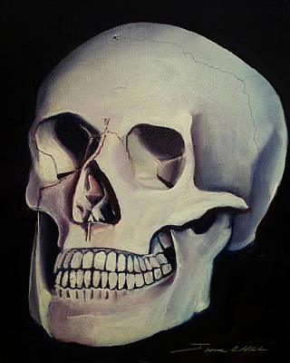 Human Head Painting - Medical Skull  by James Christopher Hill
