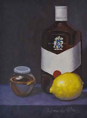 Alternative Medicine Painting - Medicine For My Lemon Man by Leana De Villiers