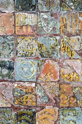 Encaustic Photograph - Medieval Floor Tiles Pattern by Tim Gainey