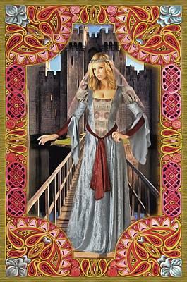 Digital Art - Medieval Lady Of Fashion by Mario Carini