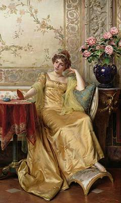 Vanity Painting - Meditation by JFC Soulacroix