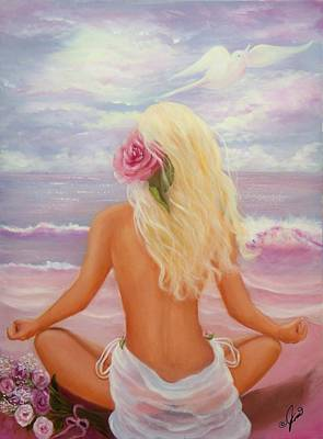 Meditation Print by Joni McPherson
