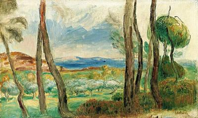 Pierre-auguste Renoir Painting - Mediterranean Landscape by Pierre-Auguste Renoir