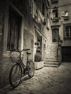 Duotone Photograph - Mediterranean Street by Silvijo Selman