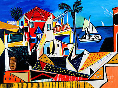 Mediterranean- Tribute To Picasso Print by Art by Danielle