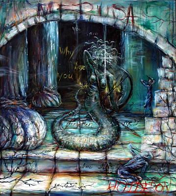 Pegasus Painting - Medusa by Heather Calderon