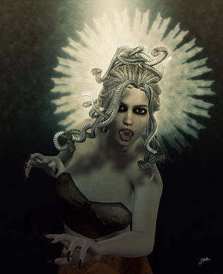 Gorgon Digital Art - Medusa by Joaquin Abella