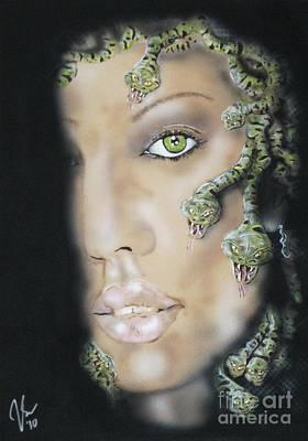 Jessica Alba Painting - Medusa by John Sodja