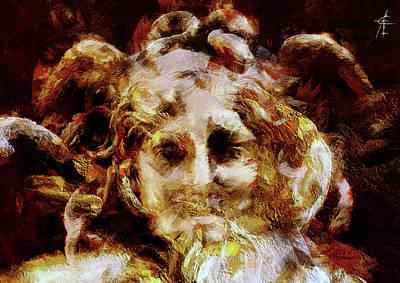 Gorgon Mixed Media - Medusa by Maximiliano Esposito