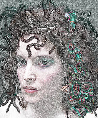 Gorgon Digital Art - Medusa - Portrait Of A Monster by Rayanda Arts