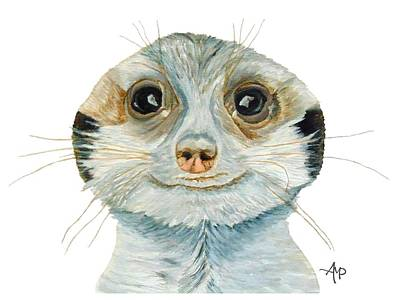 Meerkat Painting - Meerkat by Angeles M Pomata