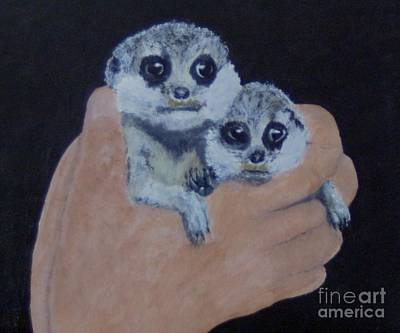 Meerkat Painting - Meerkats 2 by Martin Bond