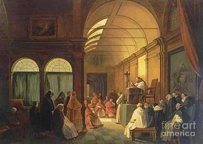 Marius Painting - Meeting Of The Monastic  by Francois Marius