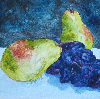 Meeting Over Grapes Original by Jenny Armitage