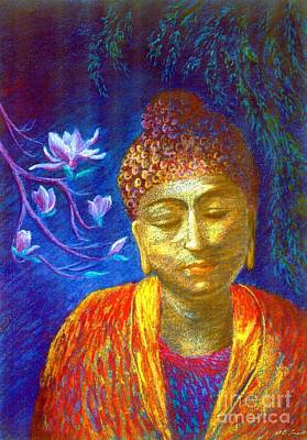 Moonlight Painting - Meeting With Buddha by Jane Small