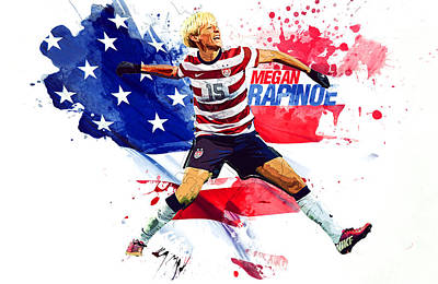 Landon Donovan Digital Art - Megan Rapinoe by Semih Yurdabak