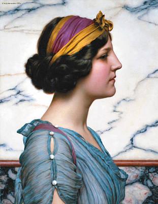 John William Godward Painting - Megilla by John William Godward