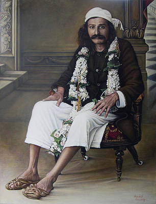 Baba Painting - Meher Baba by Nad Wolinska
