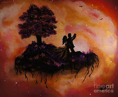 Fantasy Tree Art Painting - Melancholy Hill by Sandra Gallegos
