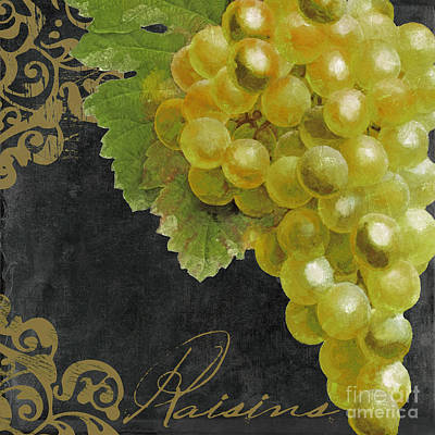 Wine Grapes Painting - Melange Green Grapes by Mindy Sommers