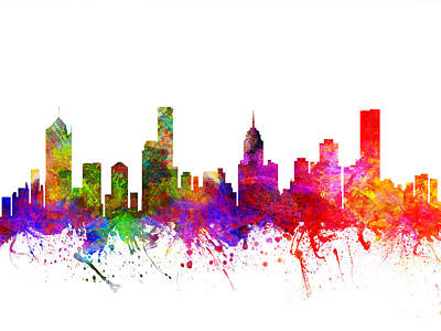 Australian Drawing - Melbourne Australia Cityscape 02 by Aged Pixel