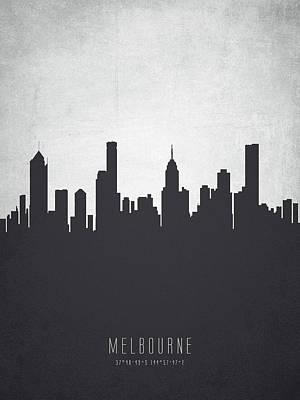 Melbourne Australia Cityscape 19 Print by Aged Pixel