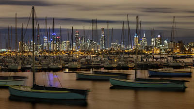 St.kilda Photograph - Melbourne Skyline - Australia by Chanh Huynh