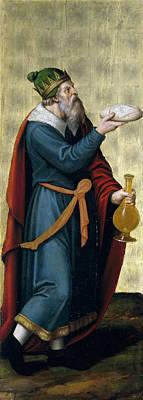 Melchizedek King Of Salem Print by Juan de Juanes