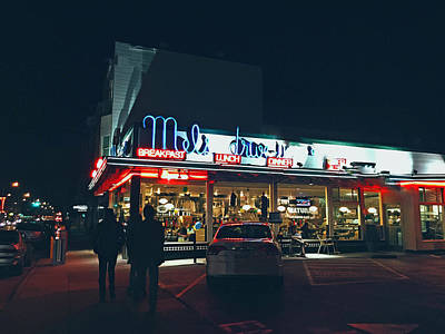 Mel's Drive-in - Hollywood California Print by Mountain Dreams