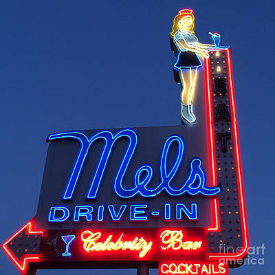 Mels Drive-in Photograph - Mels Drive-in by Nina Prommer