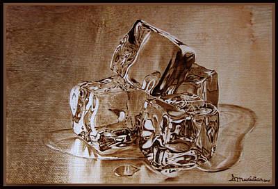 Pirogravura Pyrography - Meltdown by Dino Muradian