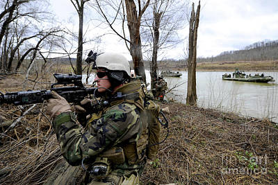 Photograph - Members Of The Riverine Security Team by Stocktrek Images
