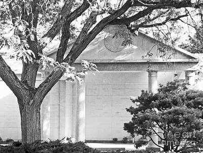All Faa Photograph - Memorial At Mount Auburn Cemetery, Cambridge, Ma by Mary Ann Weger