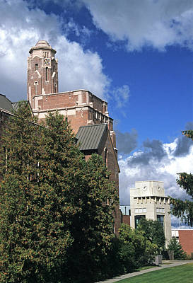 Northwest Library Photograph - Memorial Gym And Library by Doug Davidson